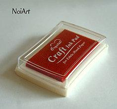 Farby-laky - Pečiatková farba červená - 5839399_