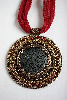 Náhrdelníky - Lava Ruby O.O.A.K. - 5858951_