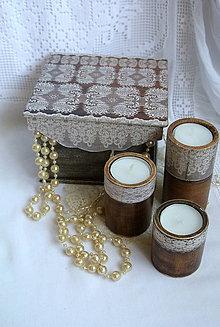Krabičky - čipkovaná romantika/krabička - 5865522_