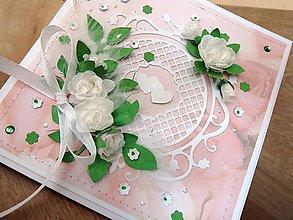 Papiernictvo - Soft flowers - svadobná pohľadnica v krabičke - 5872966_