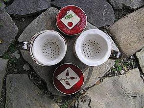 Nádoby - hrčeky so sitkom na čaj a s viečkom  - 5874882_