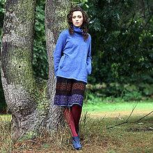 Sukne - GYPSY - pletená sukňa pod kolená-vzorovaná - 5878251_