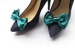 Obuv - Smaragdové klipy na topánky - 5879500_