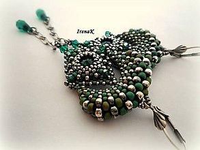 Náušnice - Zelená múza - 5881485_