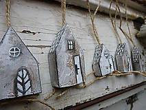 Dekorácie - Domčeky na vianočné stromčeky - Rezervované - 5888091_
