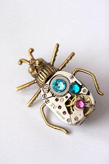 Odznaky/Brošne - Turquoise Beetle - 5887429_