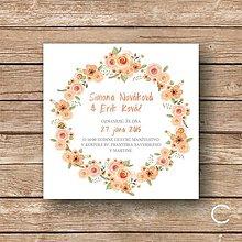 Papiernictvo - Svadobné oznámenie Spring Flower A,B,C,D - 5892271_
