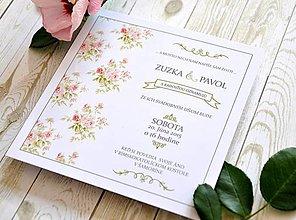 Papiernictvo - Svadobné oznámenie Wild Roses - 5892379_