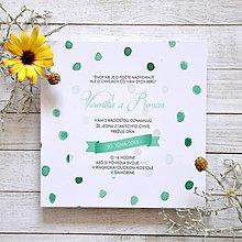 Papiernictvo - Svadobné oznámenie Water Dots - 5892401_