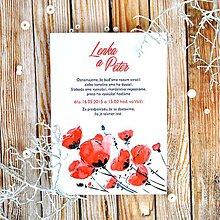 Papiernictvo - Svadobné oznámenie Poppy - 5892499_