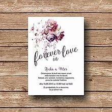 Papiernictvo - Svadobné oznámenie Purple Flower - 5892512_