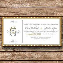 Papiernictvo - Svadobné oznámenie Elegant - 5892550_