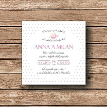 Papiernictvo - Svadobné oznámenie Rose - 5892597_