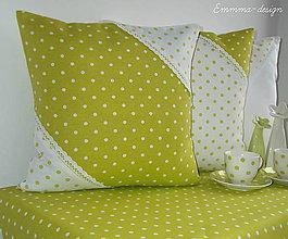 Úžitkový textil - Zelené bodky... I - 5895705_