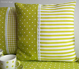 Úžitkový textil - Zelené bodky... III - 5895716_