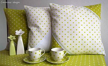Úžitkový textil - Zelené bodky... II - 5895721_
