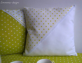 Úžitkový textil - Zelené bodky... V - 5895724_