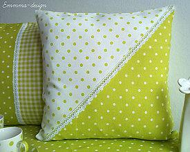 Úžitkový textil - Zelené bodky... VI - 5895734_