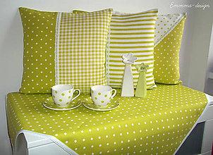 Úžitkový textil - Obrus...Zelené bodky - 5895768_