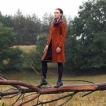 Sukne - KARMELA-zvonivá černá sukně ke kolenům - 5895617_