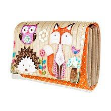 Peňaženky - peněženka Fox 13cm - 5900286_
