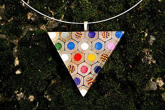 Náhrdelníky - Náhrdelník z farbičiek - 5929291_