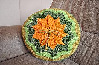 Úžitkový textil - Háčkovaný vankúš - Funky - 5934261_