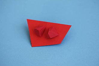 Náušnice - Astoria earrings bloody red - 5943791_