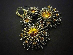 Náušnice - Sirens (sunflower) - 5951450_