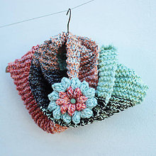 Šály - na krku s  kvetom - 5954172_