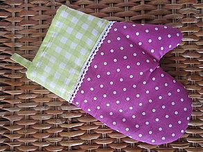 Úžitkový textil - rukavička vo fialovom - 5956330_