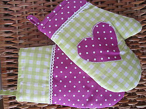 Úžitkový textil - rukavička v sviežom šate - 5956344_