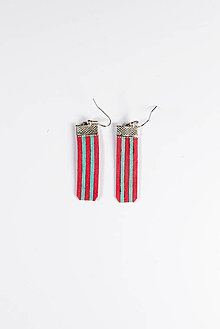 Náušnice - Strips – pink & blue - 5961316_