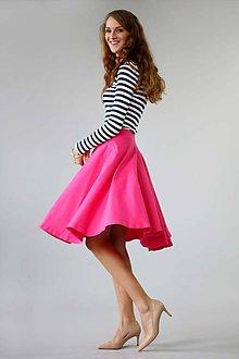 Sukne - Kruhová sukňa ...jednofarebná - 5964792_