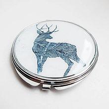 Zrkadielka - Zrkadielko s maľovaným jeleňom - 5963276_