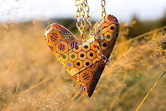 Náhrdelníky - Náhrdelník z farbičiek - 5964025_