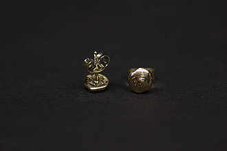 Náušnice - DOMINO - jednotky zlaté - 5964864_