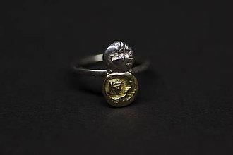 Prstene - DOMINO - prsteň dvojka zlatý - 5965323_
