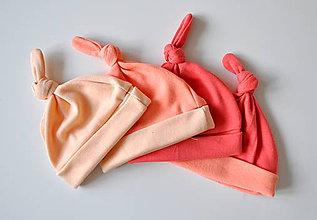 Detské čiapky - novorodenecká čiapočka uzlík - 5969067_