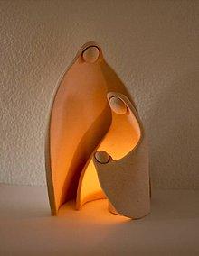 Svietidlá a sviečky - Prišlo k nám Svetlo Sveta - keramický svietnik - 5992477_