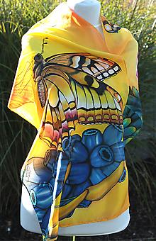 Šatky - Hodvábna šatka....A opäť motýle - 5995973_