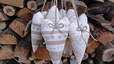 Dekorácie - Srdiečka vianočnéééééé - 6001923_
