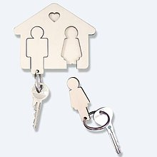 Dekorácie - Vešiačik na kľúče Môj s Mojou :) - 6002581_