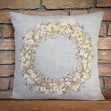 Úžitkový textil - Maľovaný veniec