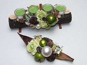 Svietidlá a sviečky - Vianočná súprava_Zelené jabĺčko ... - 6018416_
