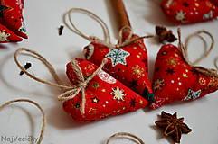 Dekorácie - Vianočné Srdiečka - 6016780_