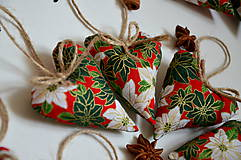 Dekorácie - Vianočné Srdiečka - 6016820_