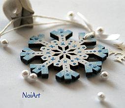 Dekorácie - Vianočná ozdoba Vločka snehová - 6021708_