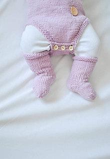 Topánočky - Merino ponožtičky staroružové - 6027057_
