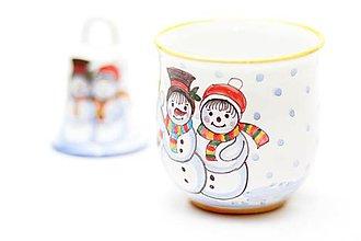 Nádoby - Zimný hrnček so Snehuliakom - 6028014_